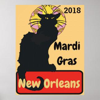 Poster Le chat noir, mardi gras, éditent le texte