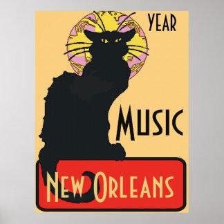 Poster Le chat noir, MUSIQUE, éditent le texte