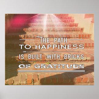 Poster Le chemin à l'affiche inspirée de bonheur