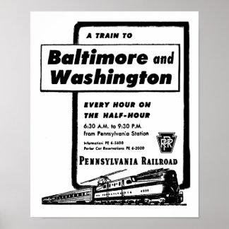 Poster Le chemin de fer de la Pennsylvanie forme d'heure