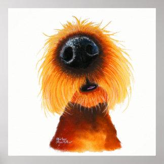 """Poster Le chien fouineur """"ODEURS aiment le soleil"""" par le"""