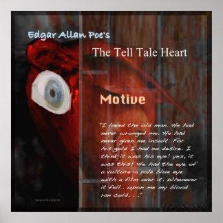 Poster Le coeur de conte de dire : Motif
