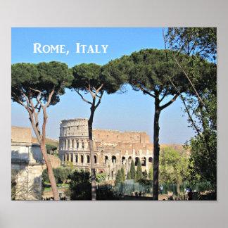 Poster Le Colosseum à Rome, Italie