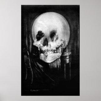 """Poster Le cru """"tout est vanité"""" par C. Allan Gilbert"""