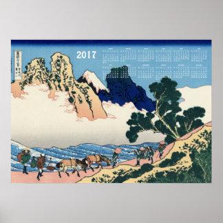 Poster Le dos du Fuji de la rivière de Minobu