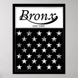 Poster Le drapeau américain de Bronx | New York