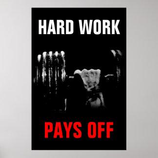 Poster Le dur labeur paye la formation Bodybuilding