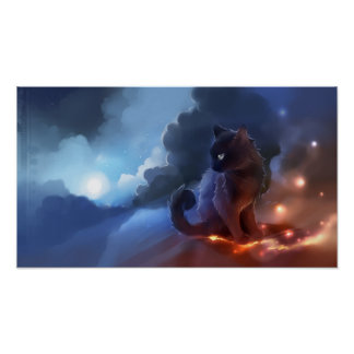 Poster Le feu de chat