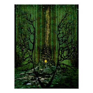 Poster Le feu de forêt : Prière pour les forêts