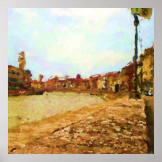 Poster Le fleuve Arno à Pise