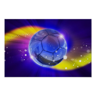 Poster Le football, l'affiche du sport la plus populaire