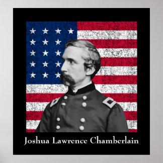 Poster Le Général Chamberlain et le drapeau américain