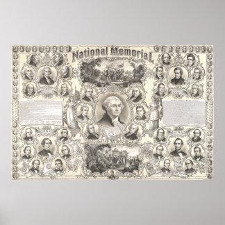 Poster Le grand mémorial national par Inger chrétienne