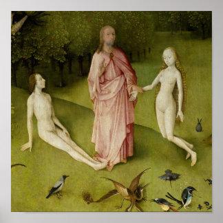 Poster Le jardin des plaisirs terrestres, 15ème siècle