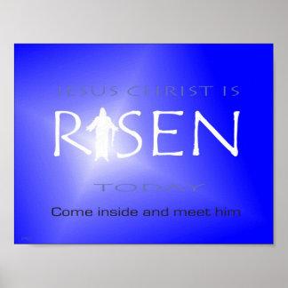 Poster Le Jésus-Christ est levé aujourd'hui