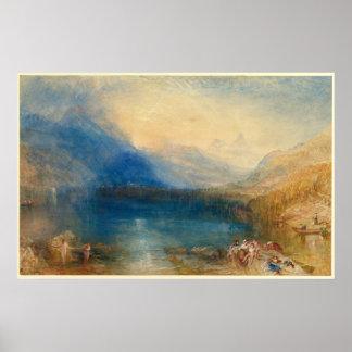 Poster Le lac de Zug Joseph Mallord William Turner