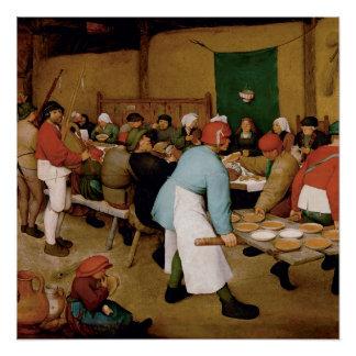 Poster Le mariage rural par Pieter Bruegel l'aîné