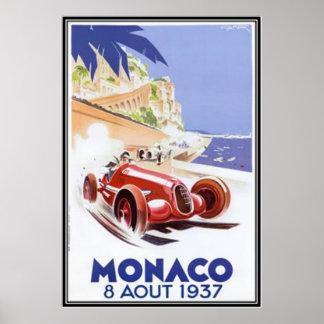 Poster Le Monaco vintage -