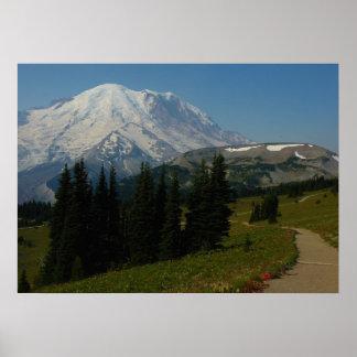 Poster Le mont Rainier de la traînée de Ridge de levain