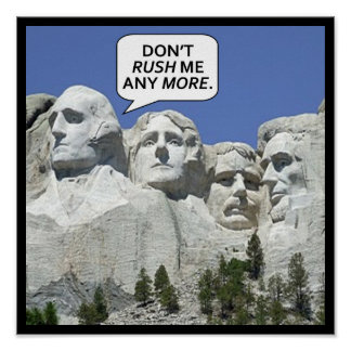 Poster Le mont Rushmore