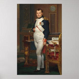 Poster Le napoléon d'empereur dans son étude chez le