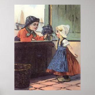 Poster Le Néerlandais badine la pièce de lavage