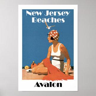 Poster Le New Jersey échoue le ~ Avalon