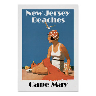 Poster Le New Jersey échoue le ~ Cape May