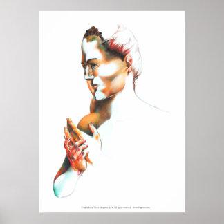 Poster Le pianiste, mains de sang