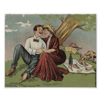 Poster Le pique-nique du couple