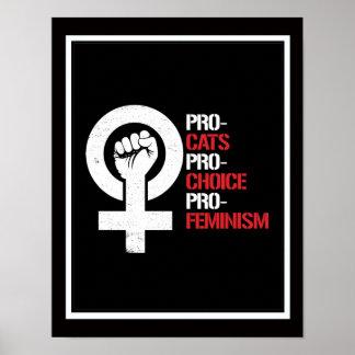 Poster Le Pro-Féminisme pour l'avortement et l'euthanasie