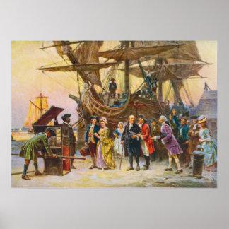 Poster Le retour de Franklin vers Philadelphie par Jean