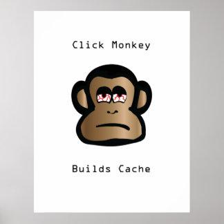 Poster Le singe de clic établit la cachette