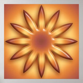 Poster Le soleil ethnique. Élément géométrique de