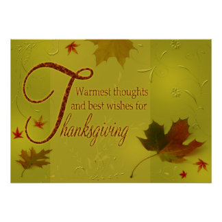 Poster Le thanksgiving souhaite la copie d'affiche de