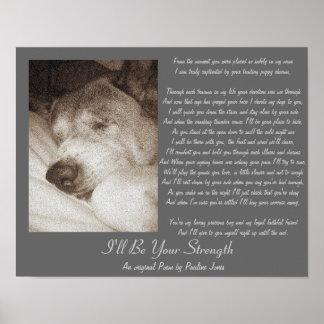 Poster le vieux chien mignon d'akita ajoutent votre