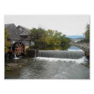 Poster Le vieux moulin