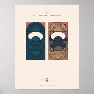 Poster Le Voile et la Barbe - Musulmans fondamentalistes