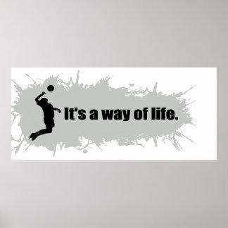 Poster Le volleyball est un mode de vie (le mâle)
