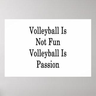 Poster Le volleyball n'est pas volleyball d'amusement est