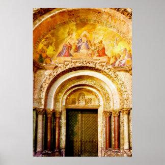 Poster L'entrée de la basilique de marque de saint à