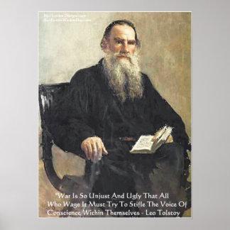 """Poster Léon Tolstoï """"guerre est"""" affiche injuste de"""
