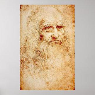 Poster Leonardo da Vinci - autoportrait