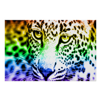 Poster Léopard du tigre 80s de Corey rétro