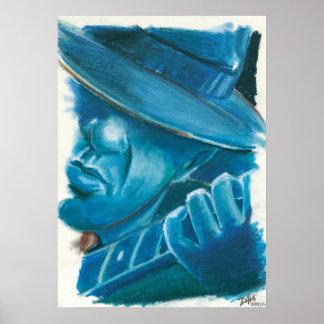 Poster Les bleus