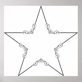 Poster Les cieux d'étoile de cadre personnalisent des