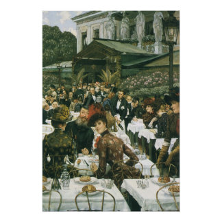 Poster Les dames de l'artiste par James Tissot, art
