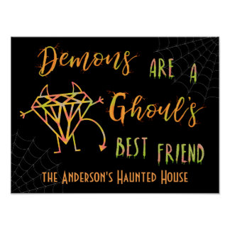 Poster Les démons drôles de Halloween sont un meilleur