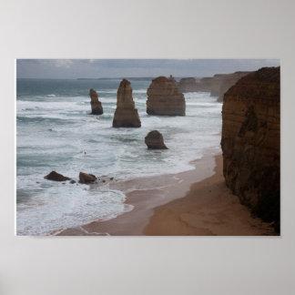 Poster Les douze apôtres, Victoria, Australie
