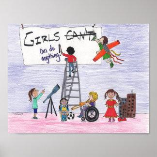 Poster Les filles peuvent faire n'importe quoi !
